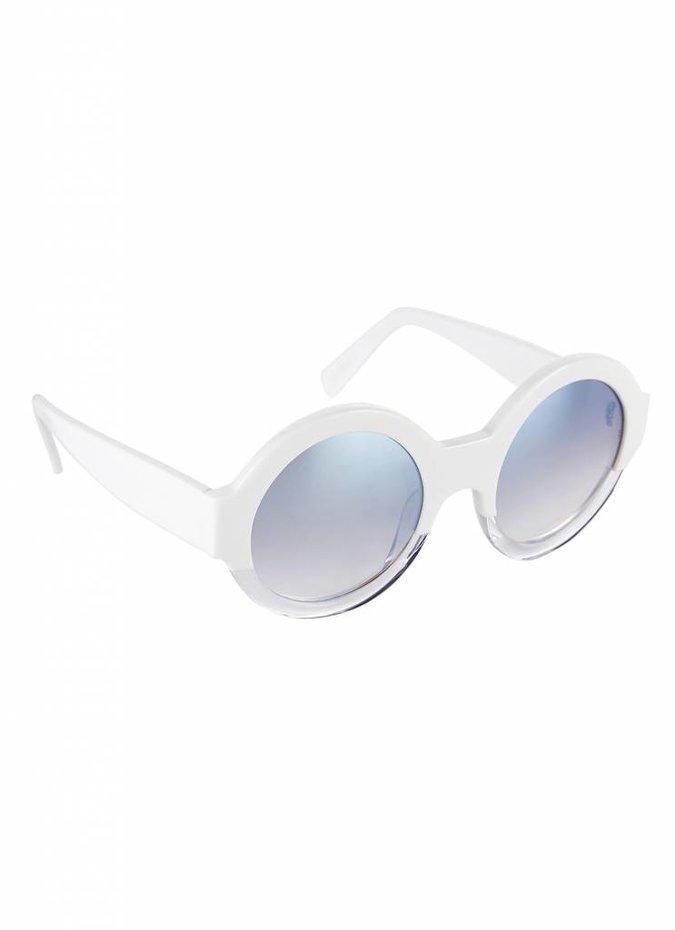"""Bruno"" White Sunglasses"