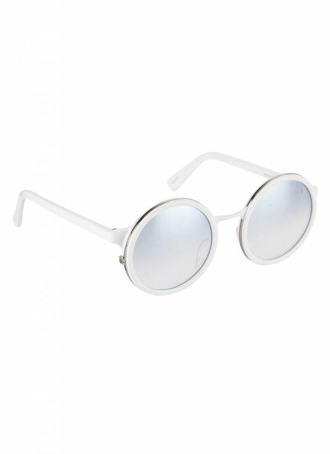 """""""Soleil"""" White Sunglasses"""
