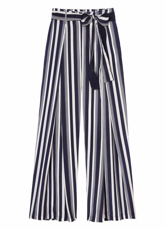 Stripe Silk Culottes
