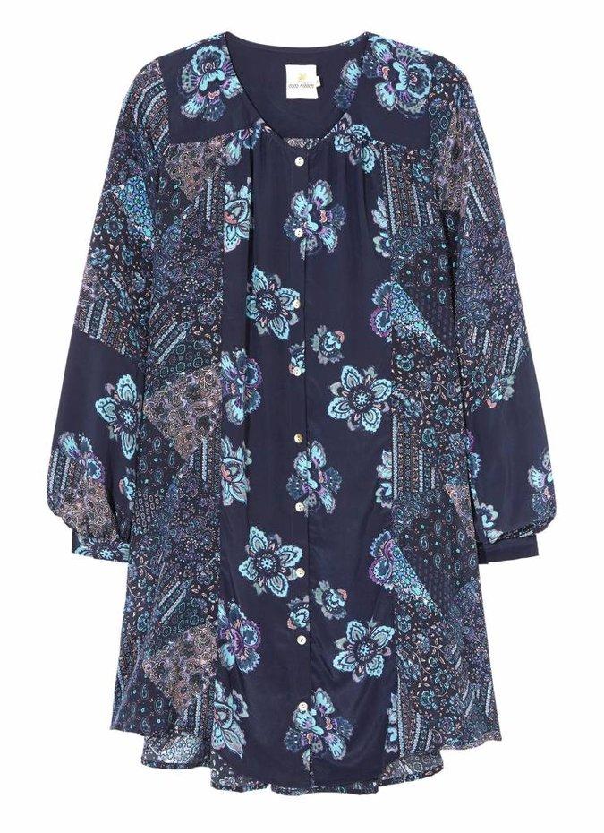 Blue 'Fleetwood' Patchwork Dress