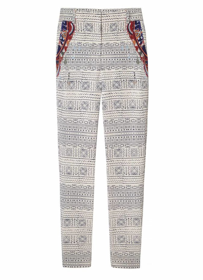 Camilla Print Stretch Slim Trousers