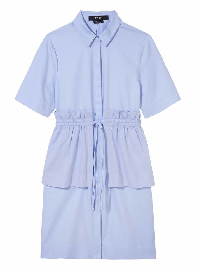 TY-LR The Vine Dress in Blue