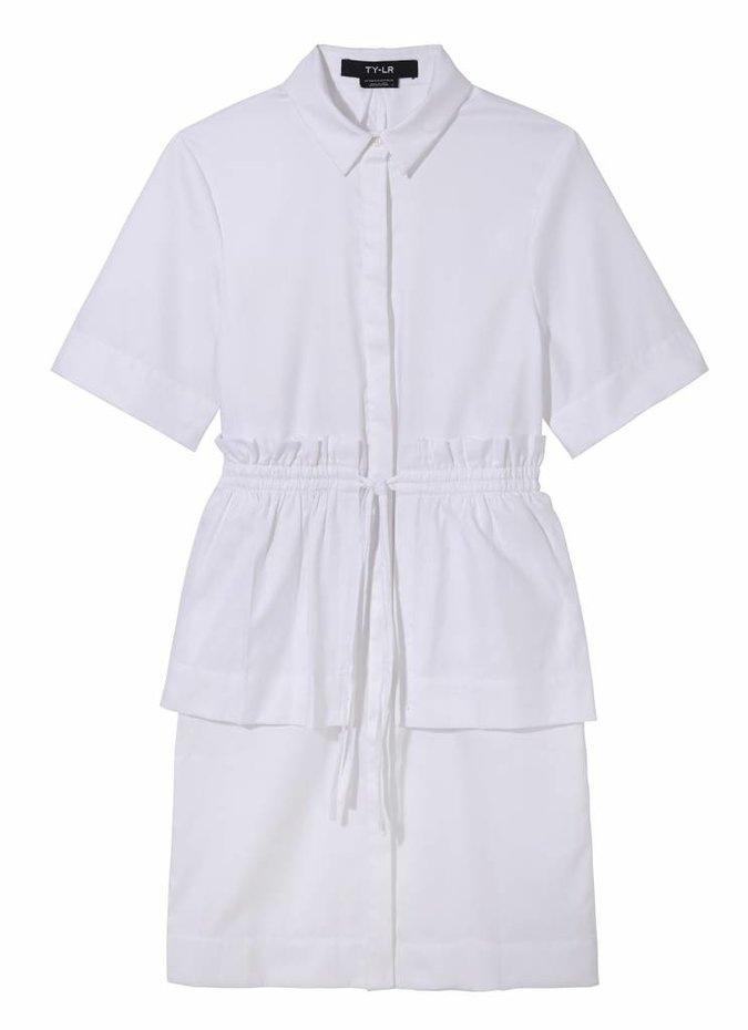 TY-LR The Vine Dress in White