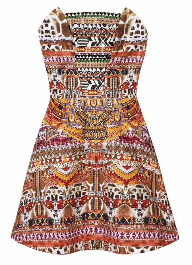 Camilla Embellished  A- Line Dress