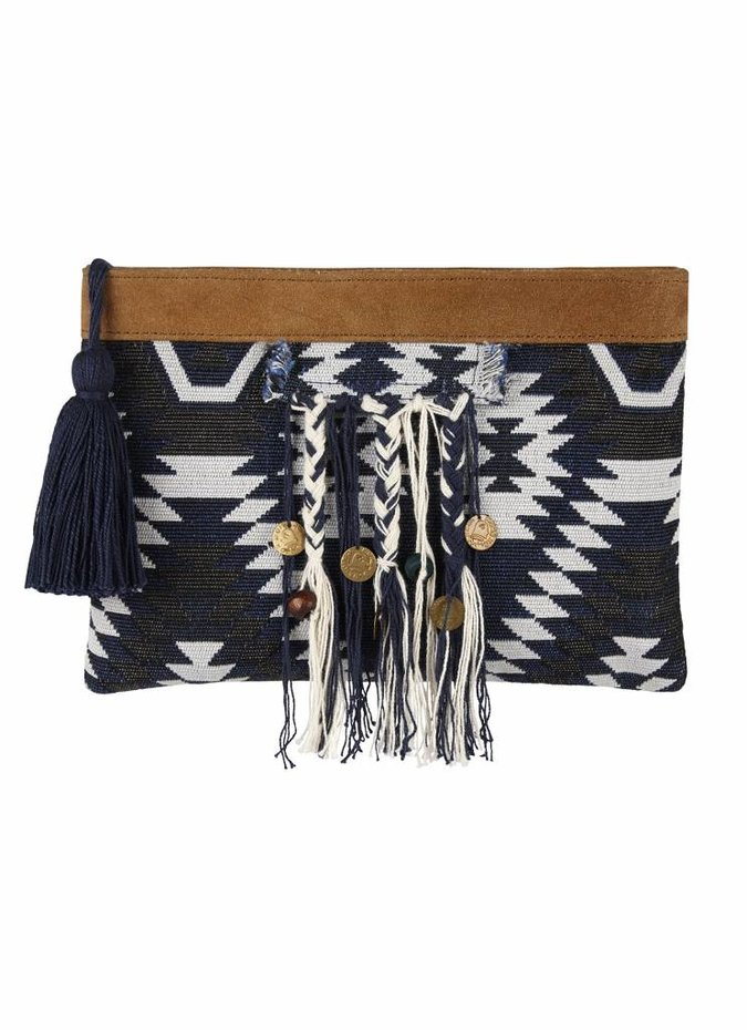 Seafolly Persian Rug Clutch in Indigo