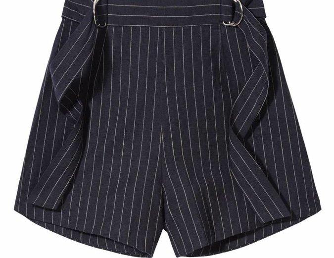 Dissolve Shorts in Navy Pinstripe