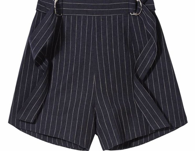 Finders Keepers Dissolve Shorts in Navy Pinstripe