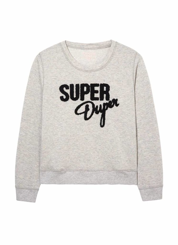 Mink Pink Move Super Duper Jumper in Grey Marle