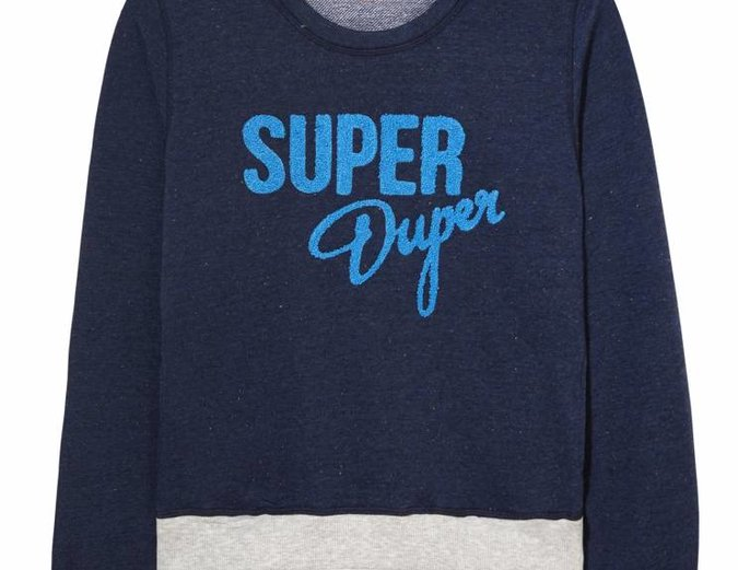 Mink Pink Move Super Duper Jumper in Navy