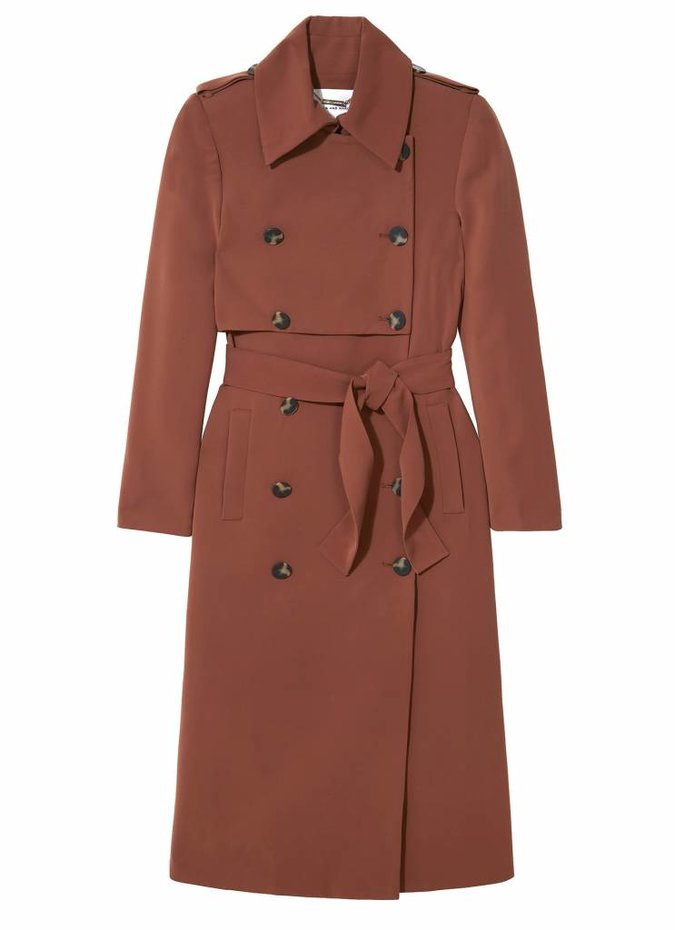 Camilla and Marc Doji Tailored Trench in Brown