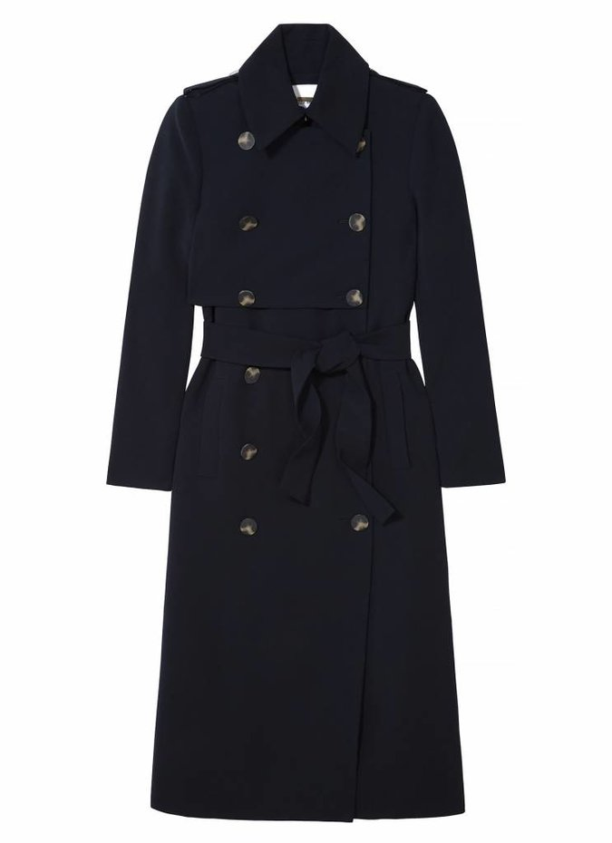 Camilla and Marc Doji Tailored Trench in Navy