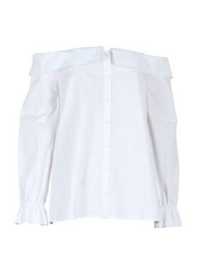 Mink Pink Inventors Daughter Blouse in White