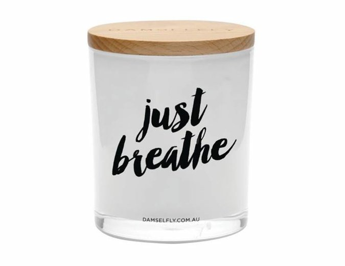 Damselfly 'Just Breathe' XL Candle