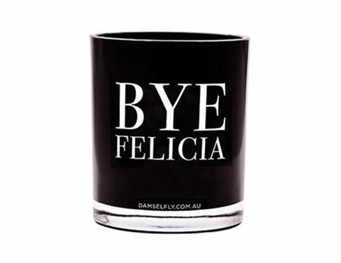Damselfly 'Bye Felicia' Large Candle