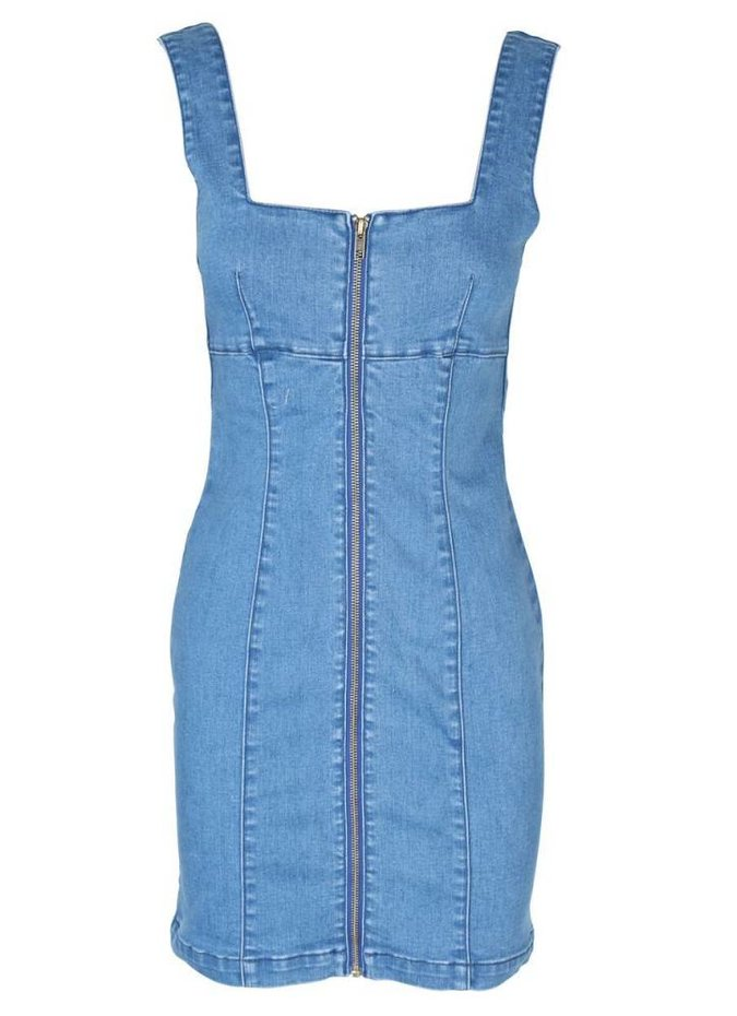 Mink Pink Escape Mini Dress in Light Blue