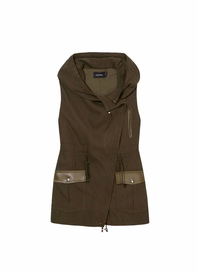 Mink Pink Keep Cosy Waterfall Vest