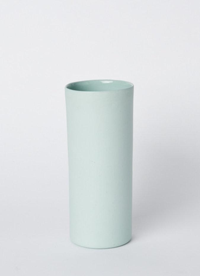 MUD Vase Round Medium Blue