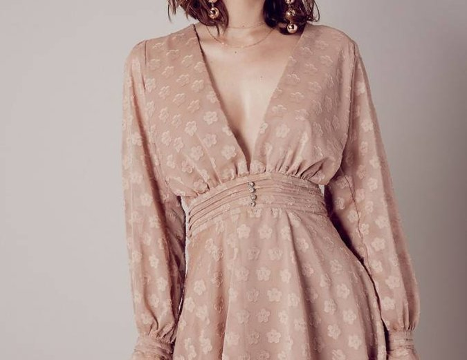 For Love & Lemons Modern Love Long Sleeve Dress