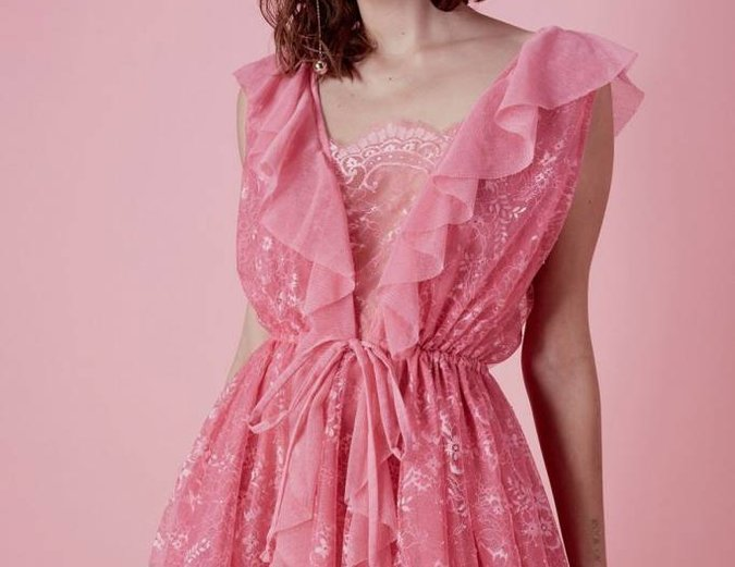 For Love & Lemons Stardust Drawstring Dress