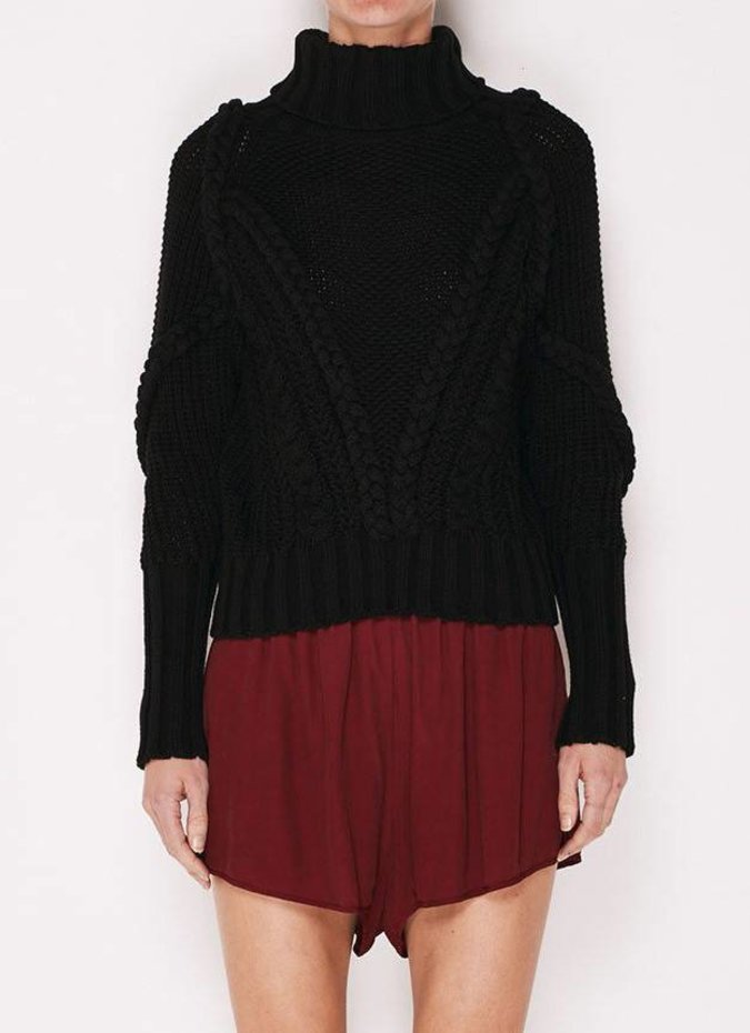MLM Label Cable Knit Jumper - Black