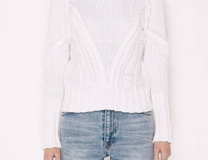 MLM Label Cable Knit Jumper - White