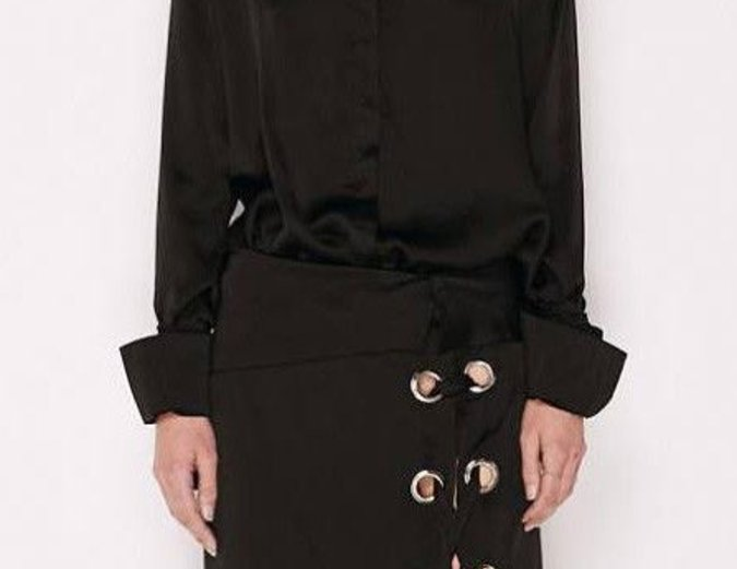 MLM Label Cairo Eyelet Shirt - Black