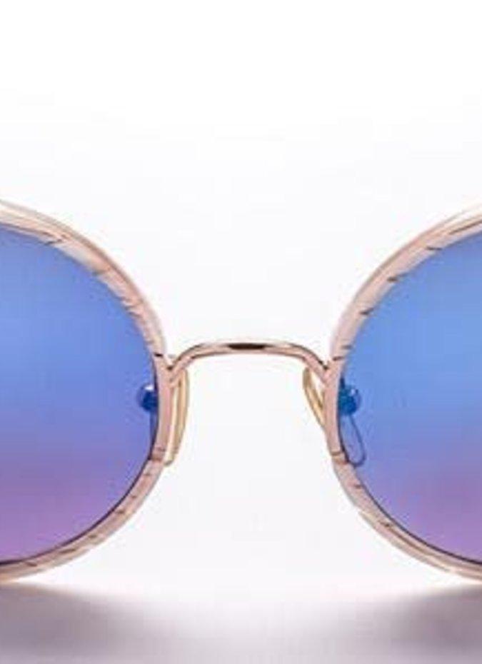 """""""Yetti"""" White Metallic Sunglasses"""
