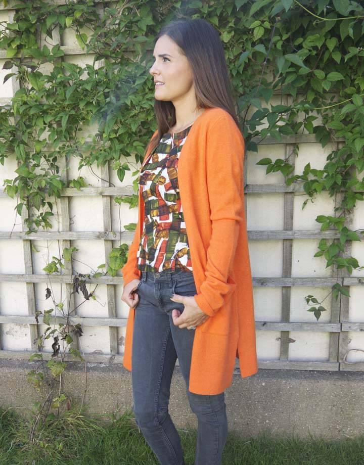 JABA Jaba Cashmere Cardigan in Orange