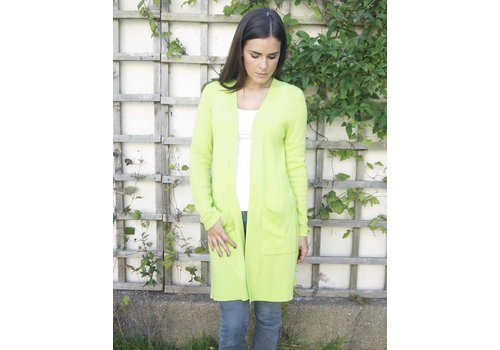 JABA Jaba Pure Cashmere Cardigan in Lime