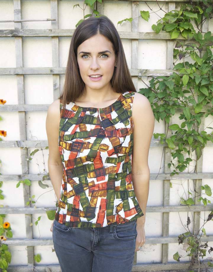 JABA JABA Leila Top - Falling Blocks - Orange
