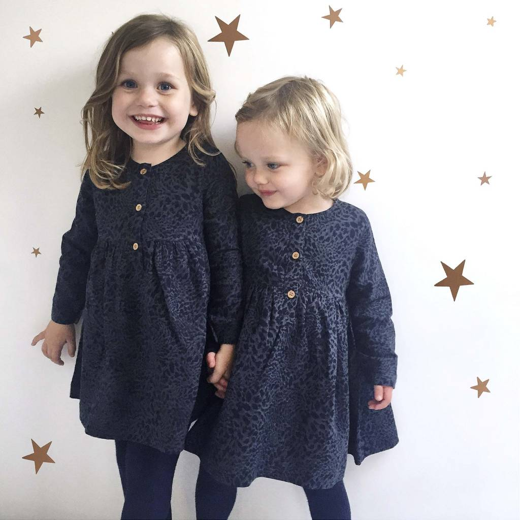 JABA Jaba Kids Tabitha Dress - Leopard Print