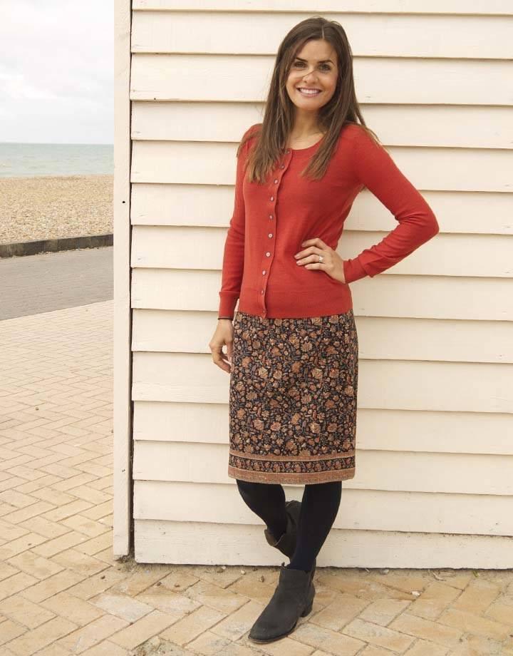JABA JABA Lora Skirt - Indian Orange