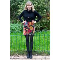 Jaba Velvet Skirt in Chelsea Print