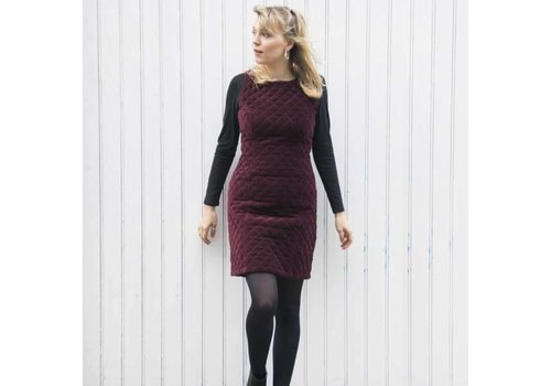JABA Jaba Mia Dress in Wine Velvet