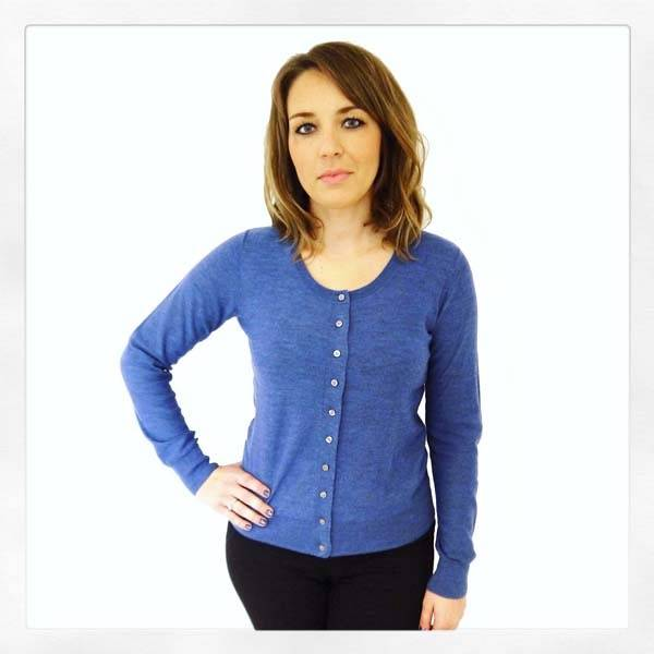 JABA Jaba Pure Wool Cardigan in Blue