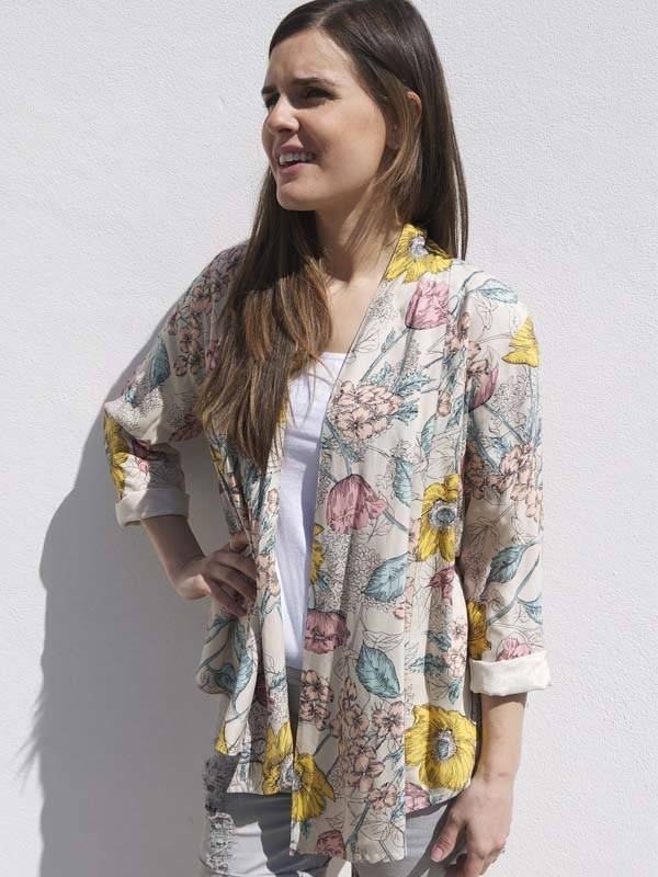 JABA Jaba Loose Jacket in Meadow Print