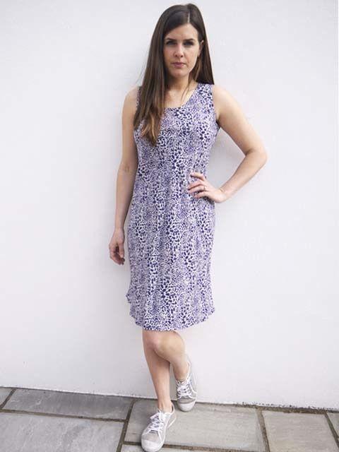 JABA JABA Izzy Dress in Blue Leopard