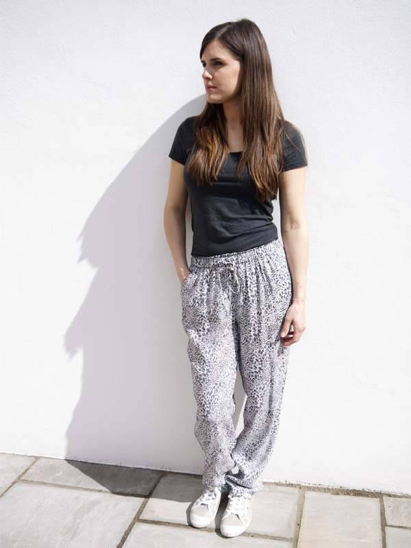 JABA JABA Ellie Trousers in Grey Leopard