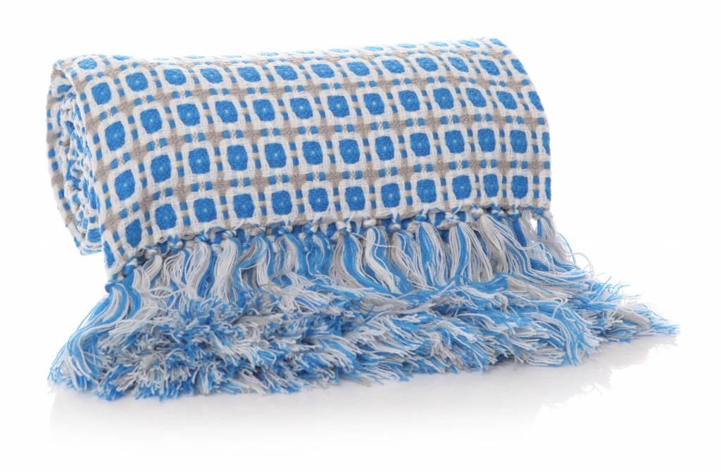 SHRUTI Anni Squared Blanket - Aqua