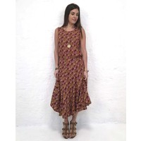 JABA Florence Skirt in Vintage Wave Rust