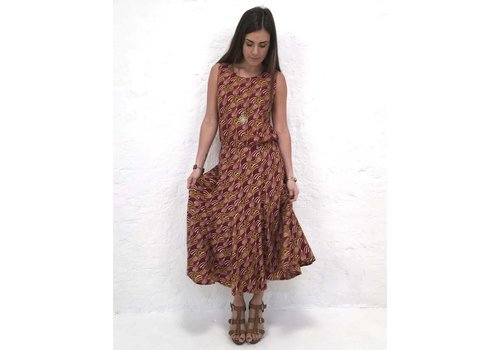 JABA JABA Florence Skirt in Vintage Wave Rust