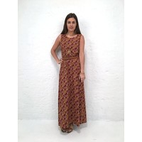 JABA Naomi Maxi Dress in Vintage Wave Rust