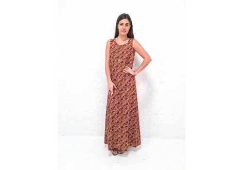 JABA JABA Naomi Maxi Dress in Vintage Wave Rust