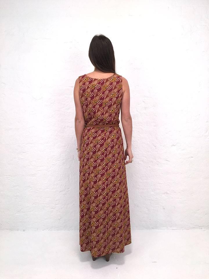 JABA JABA Naomi Maxi Dress in Vintage Wave Rust