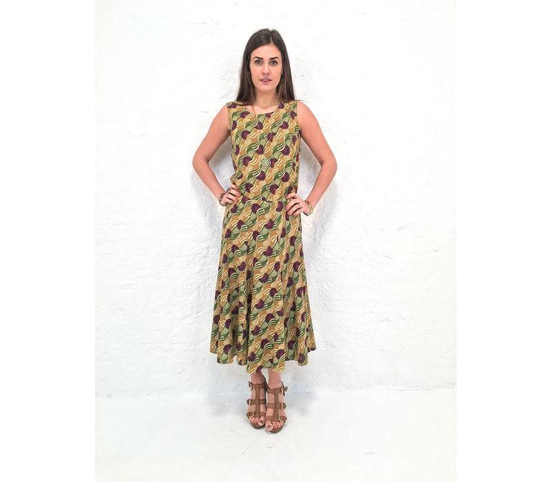 JABA Florence Skirt in Vintage Wave Green