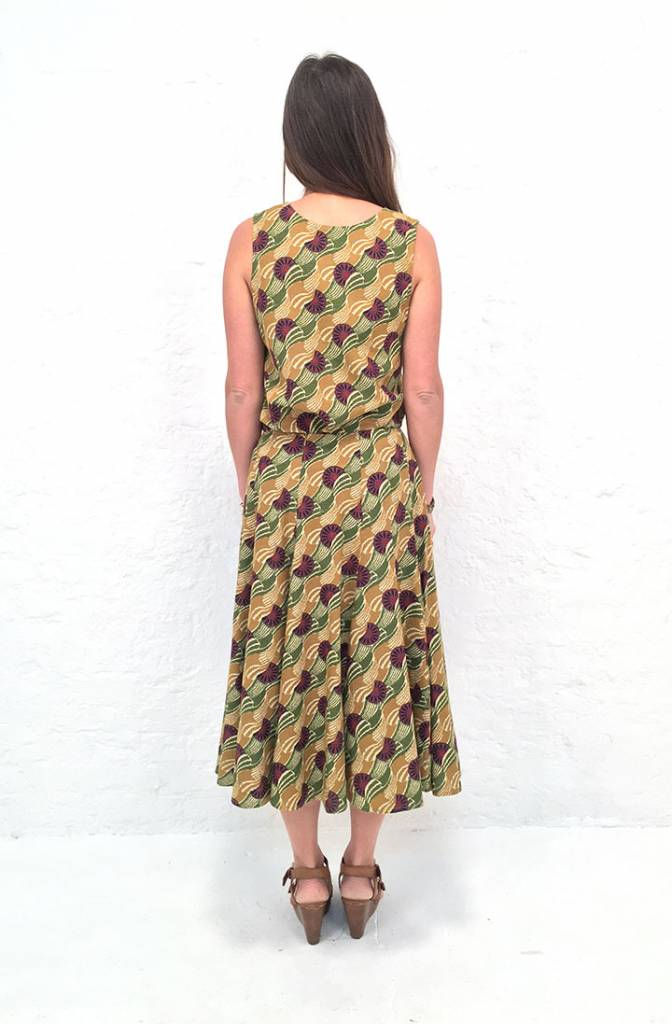 JABA JABA Florence Skirt in Vintage Wave Green