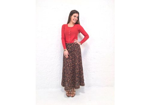 JABA JABA Sara Maxi Skirt in Indian Orange