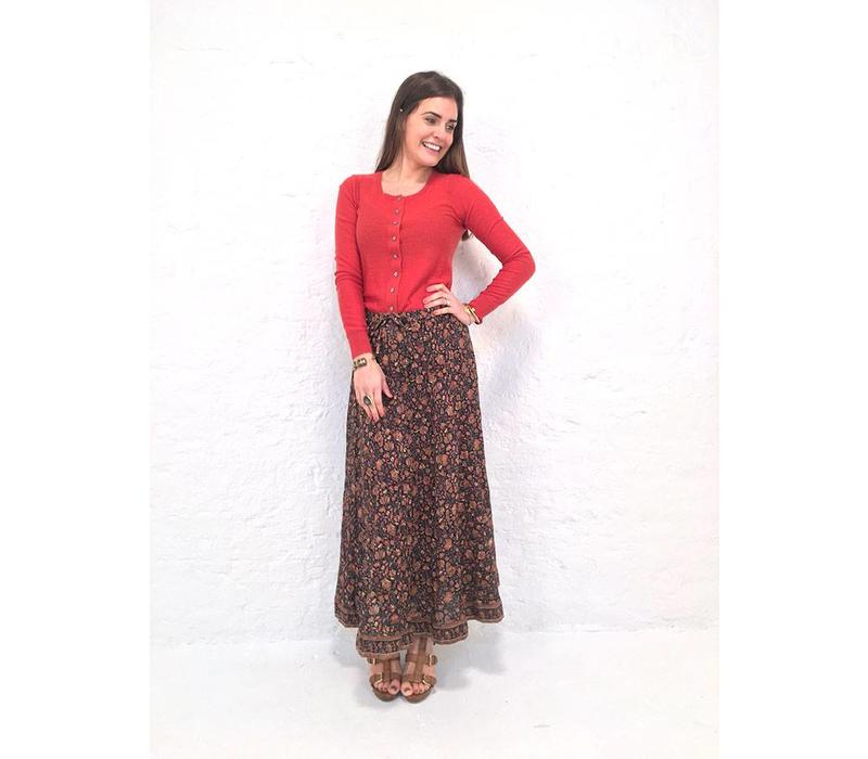 JABA Sara Maxi Skirt in Indian Orange