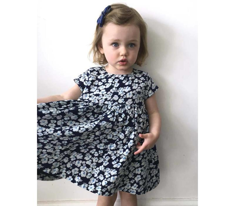 Jaba KIDS Thea Dress in Blue Pansy