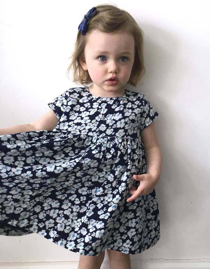 JABA Jaba KIDS Thea Dress in Blue Pansy